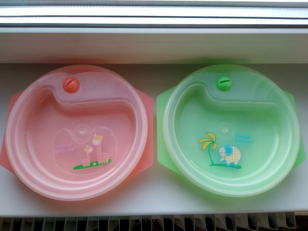 Тарелка с подогревом Canpol babies