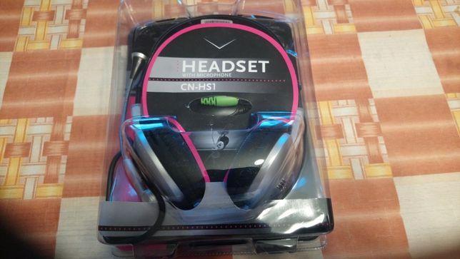 Słuchawki z mikrofonem firmy Canyon model CN-HS1