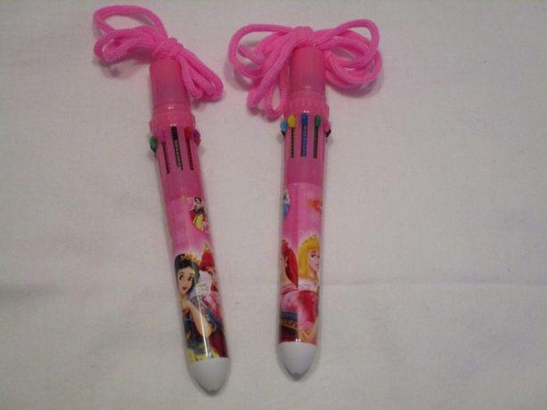 Ручка Принцессы 10 цветов в 1, на верёвочке