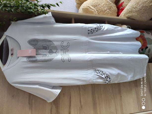 Sukienka bawelniana biała