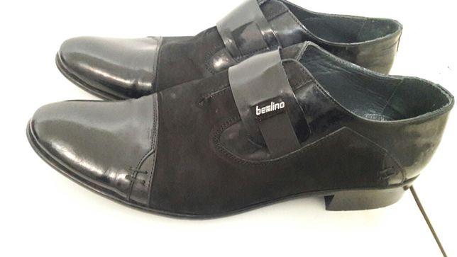 Чоловічі лакові туфлі Berlino