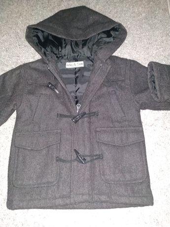 Теплое детское пальто