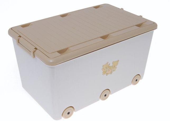 Ящик контейнер для игрушек на колёсиках Tega Baby (Польша)
