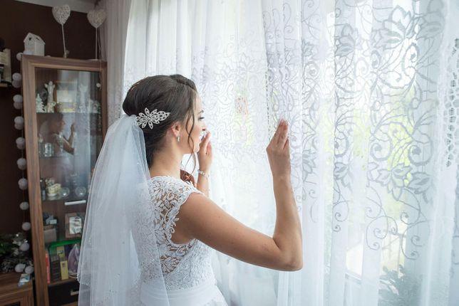 Suknia ślubna Imperial 2017 biała koronka r.36
