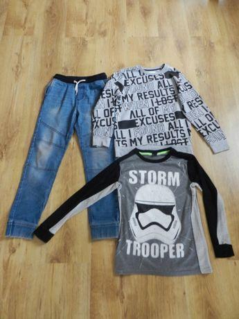Chłopiec bluza Star Wars, Reserved, spodnie jeansy rozm. 146