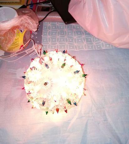 Kula świetlna świąteczna z PRL - u kilka trybów świecenia
