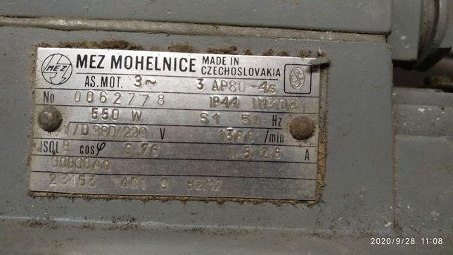 Silnik 3 fazowy,550 W ,1380 obr. na min,kołnierzowy