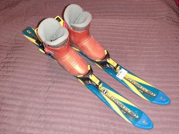 Narty dziecięce KASTLE 75 cm buty narciarskie 28 TECNICA