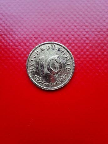 Niemcy III Rzesza 10 FENIGÓW 1939 A - NIEMCY