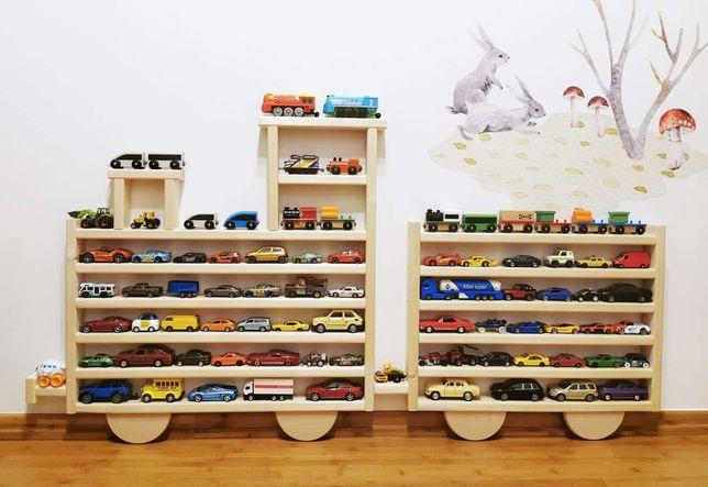 """Półka regał na resoraki autka pociągi lub inne kolekcje """"świerk"""""""