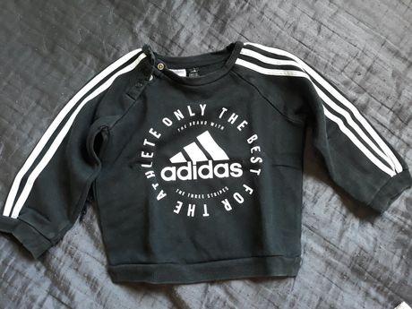 Adidas sweterek rozm. 86 czarny