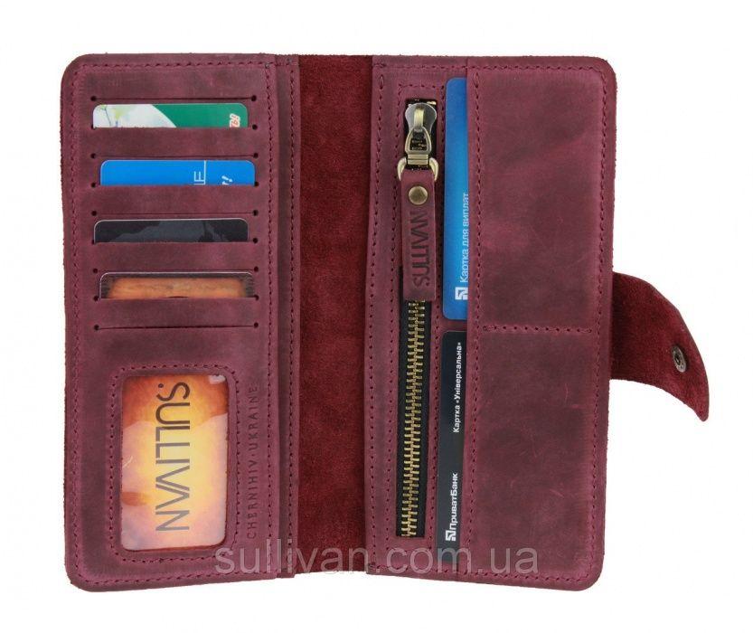 Кожаный женский кошелек портмоне ручной работы фирмы Sullivan Козелец - изображение 1