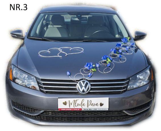 Dekoracja samochodu ozdoba na auto do ślubu NR.3
