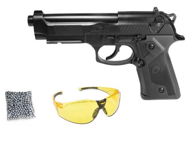 Mocna WIATRÓWKA pistolet Beretta na kulki gaz co2