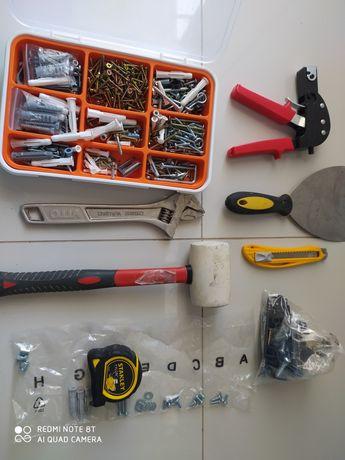 Conjunto materiais ferramentas