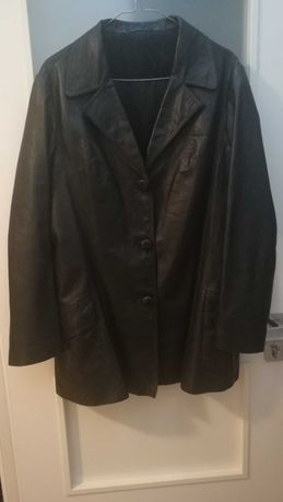 Płaszcz skórzany vintage