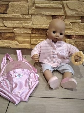 lalka baby annabell + nosidełko