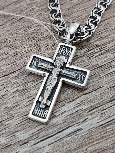Ланцюжок з хрестиком срібло 925. Срібний хрестик та цепочка срібна