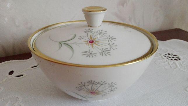 Szkatułka, bombonierka, cukiernica, Antyk, porcelana Weimar