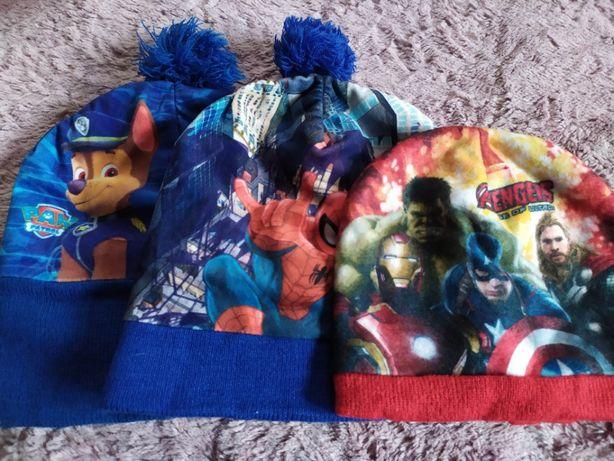 Оригинал.Шапка Spiderman и Щенячий патруль 54 см ,Avengers 52см