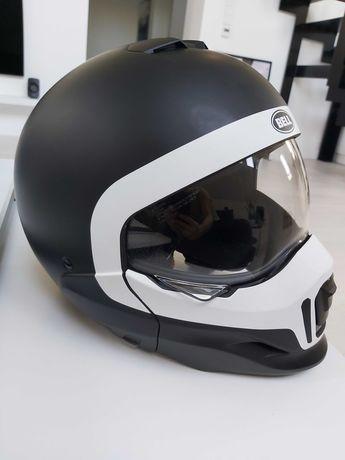 Kask motocyklowy BELL Broozer Cranium czarno / biały Rozmiar L