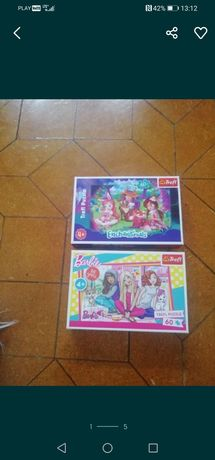 Puzzle  2 sztuki Enchantimals Barbie kompletne 60 elementów