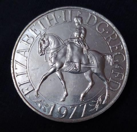 Монета 25 пенсів 1977
