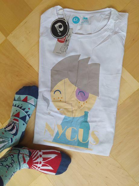 Pewex koszulka t-shirt damska biała nygus