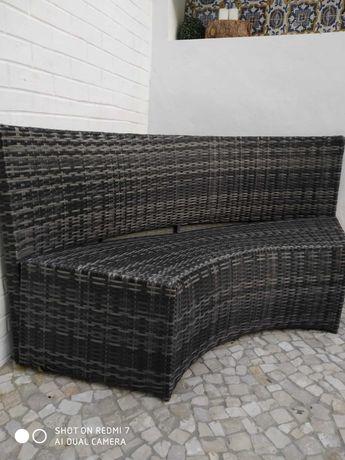 Jardim- sofá de canto antracite