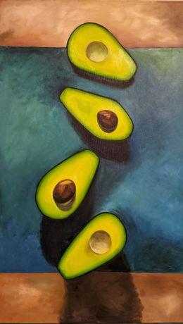 Интерьерная живопись картина маслом авокадо