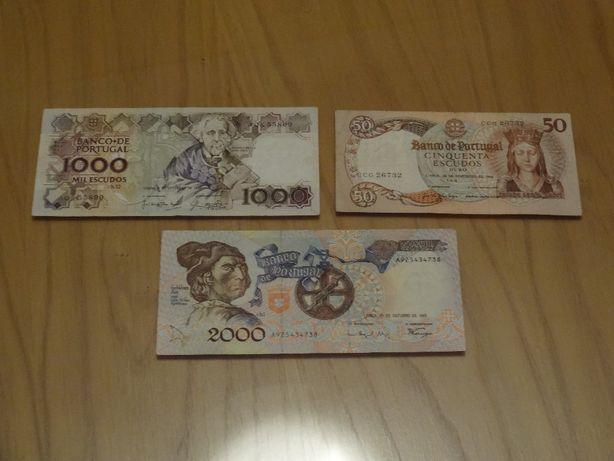 NOTAS . ESCUDOS ∟ 50$00 . 1000$00 . 2000$00