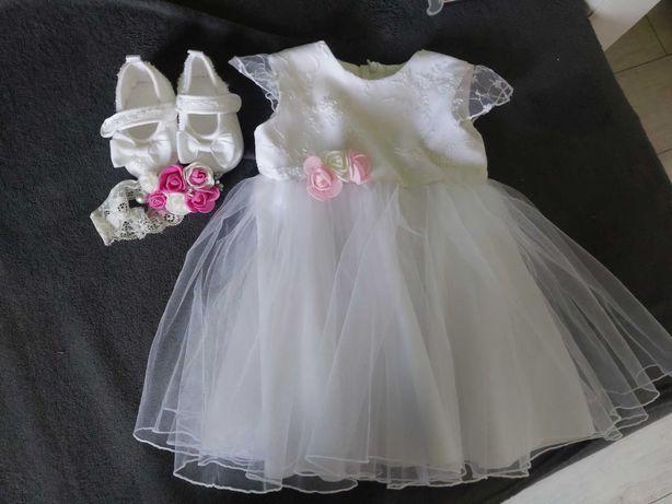 Sukienka na chrzest 74
