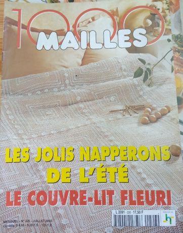 Revistas 1000 Mailles, Anna, Diversas de crochê - Moda, Roupa, Tricô
