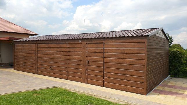 Garaż blaszany drewnopodobny 10x5 profil 6x6  6x5 5x5 4x6