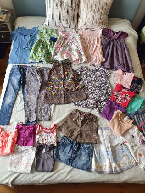 Next Zara 5-6lat paka zestaw bluzka sukienka