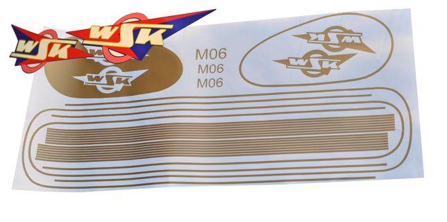 Szparunki WSK M06 B1 logo złote niebieskie białe