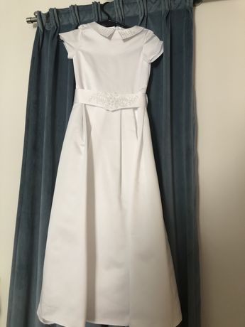Sukienka komunijna perelki kolnierzyk rozmie 134