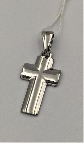 Krzyżyk srebrny zawieszka rodowany RS-69/1