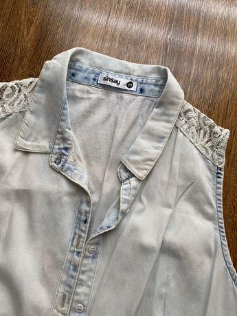 Dżinsowa koszula na ramiączkach, rozmiar M