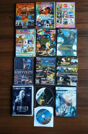 Диски с играми+ мультфильмы + фильмы (цена за все)