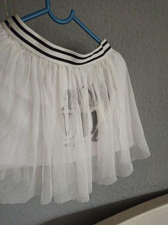 Spódniczka tiulowa na bawełnianej podszewce 116