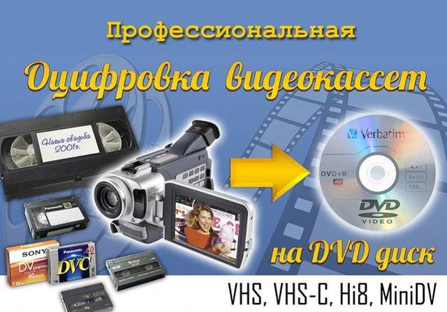 Оцифровка аудио кассет-видеокассет-кинопленки на любые носители