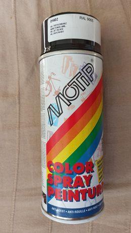 Motip Spray Lakier Czarny 01602 do drewna, metalu, aluminiu