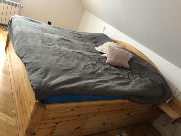 Łóżko sypialniane 200/200 z litego drewna, lite drewno