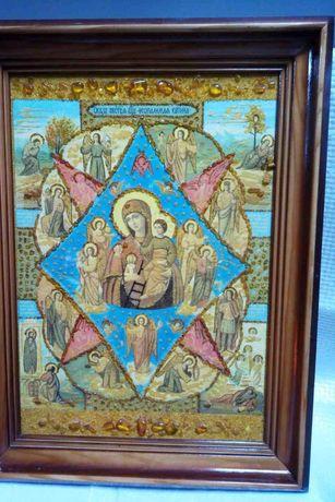 Икона из янтаря 35х47 см.