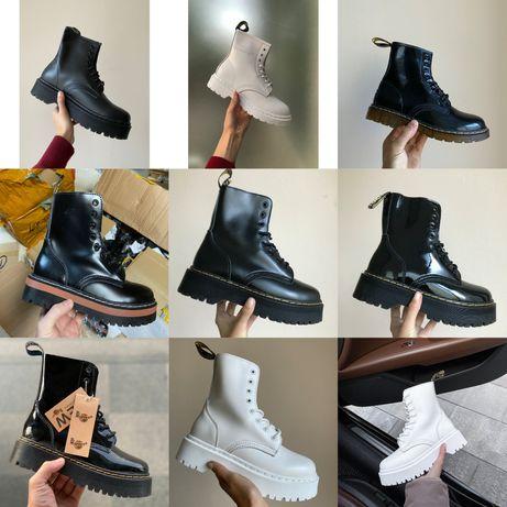 Женские Ботинки Dr. Martens Jadon! 36-40! Кожа! Хит продаж! Без Меха!