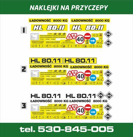 Naklejki na przyczepę przyczepy HL 8011-  ODPORNE