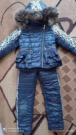 Зимний костюм б/у для девочки