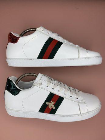 Gucci Ace сникеры кеды белые