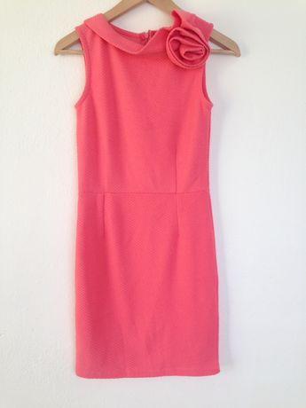 Brzoskwiniowa sukienka Mohito rozmiar S